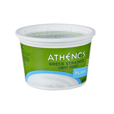 Athenos Greek Strained Plain Nonfat Yogurt