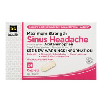 DG Health Sinus Headache Pain Reliever - Caplets, 24 ct
