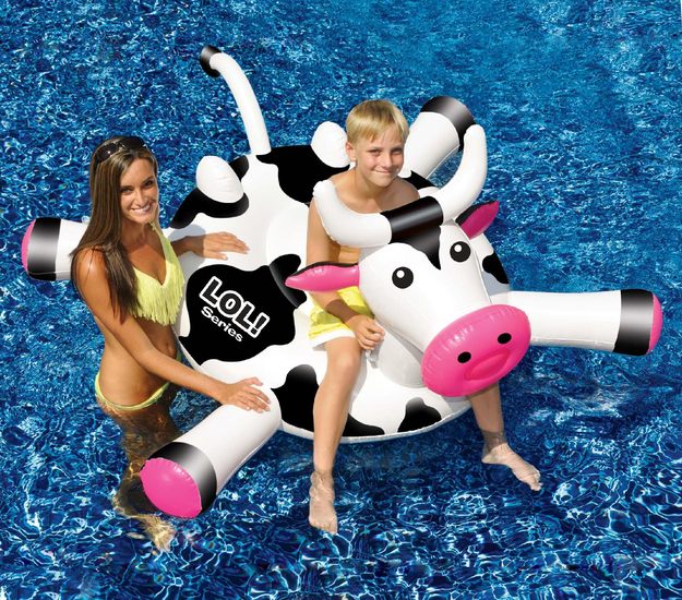 International Leisure Products Inc. LOL™ 54-in Cow inflatable Ride-On Pool Toy