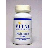 Vital Nutrients Melatonin 20mg 60 Capsules