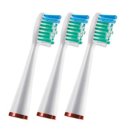 WaterPik SRRB-3W Replacement Standard Brush Heads, Standard, 3 ea