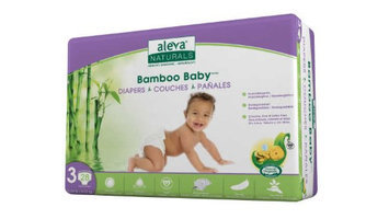 Aleva Naturals BAMBOO BABY DIAPERS SIZE 3 13-24LBS/6-11KG 28CT 6 PCK OF 28CT