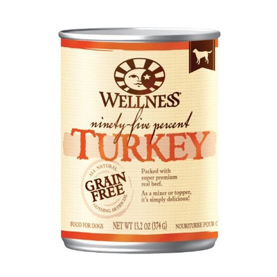 Wellness Natural Grain Free Wet Canned Dog Food, 13.2-Ounce Can (Pack of 12)
