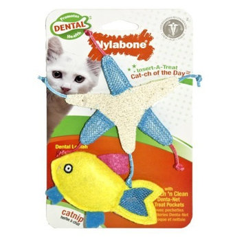 Nylabone Cat Dental Insert-A-Treat Cat-ch Of The Day Treat Holder