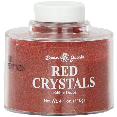 Dean Jacob's Dean Jacobs Red Crystals Stacking Jar, 4.1-Ounce (Pack of 6)