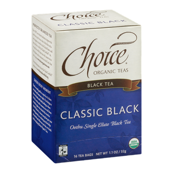 Choice Organic Teas Black Tea Classic Black - 16 CT