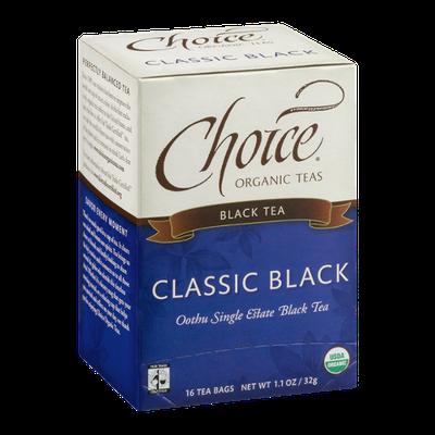 Choice Organic Teas Black Tea Classic Black - 16 CT
