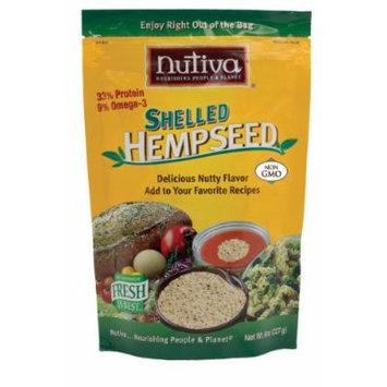 Nutiva Shelled Hempseed, 8-Ounce Bag (Pack of 3)