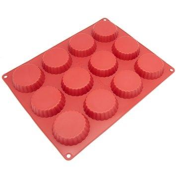 Freshware 12-Cavity Silicone Tartlet Pan Red
