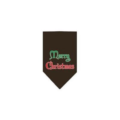 Ahi Merry Christmas Screen Print Bandana Cocoa Large