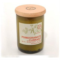 Paddywax Eco Green Soy Wax Candle W/ 7oz Recycled Glass Fill, Pomegranate & Current