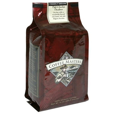 Coffee Masters Flavored Coffee, Dark Chocolate Decadence, Ground, 12-Ounce Bags (Pack of 4)