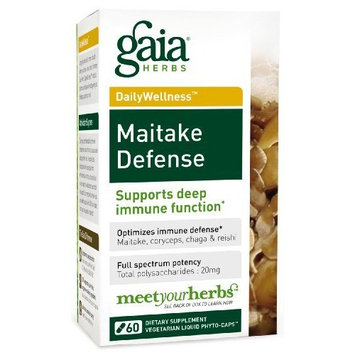 Gaia Herbs Maitake Defense, 60 Liquid Phyto-Capsules