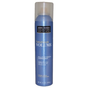 John Frieda® Luxurious Volume All Out Hold Hair Spray by John Frieda for Unisex Hair Spray, 8.5 Ounce