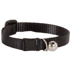 Lupine Inc Adjustable Black Safety Cat Collar with Bell