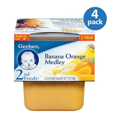 Gerber 2nd Foods Baby Foods Banana Orange Medley