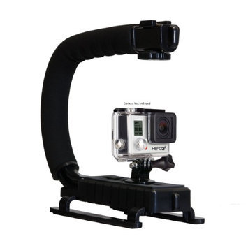 Opteka X-GRIP Professional Action Stabilizing Handle Specifically Made for GoPro HD Hero3 3+ the with Accessory Shoe for Flash, Mic, or Video Light (Black)