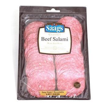Saag's Beef Salami Sliced 6oz. Pkg