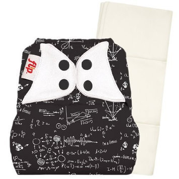 Flip Individual: 1 One-Size Snap Closure Diaper Cover & 1 One-Size Organic Insert - Twilight