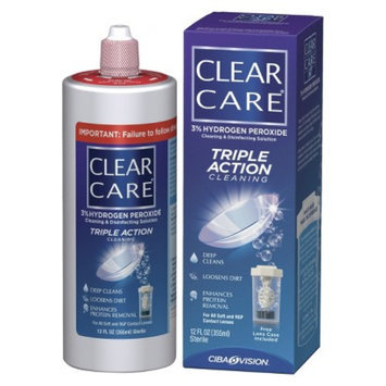 Clear Care Triple Action Cleaning and Disinfecting Solution - 2 Count