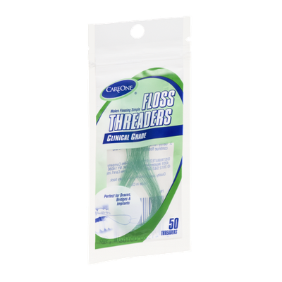 CareOne Floss Threaders Clinical Grade - 50 CT
