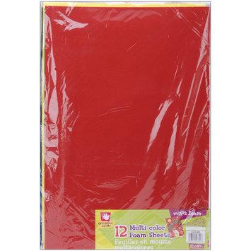 Fibre Craft Foam Sheets, Basic Colors, 12