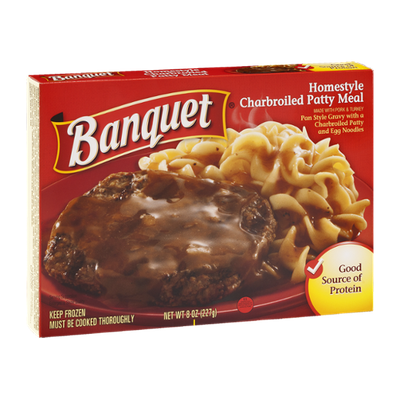 Banquet Cheesy Smothered Charbroiled Patty Meal
