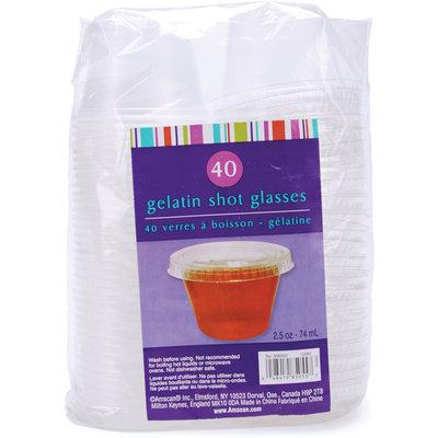 Gelatin Plastic Shot Glass W/Lid 2.5 Ounces -Clear