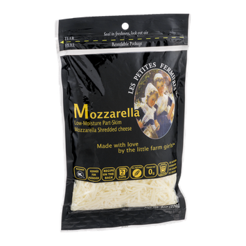 Les Petites Fermieres Mozzarella Shredded Cheese