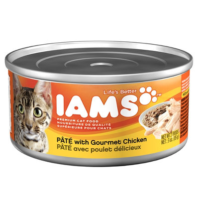 Iams ProActive Health Adult Cat Premium Pate With Gourmet Chicken 3 Oz