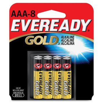 Eveready Gold AAA Batteries 8 count