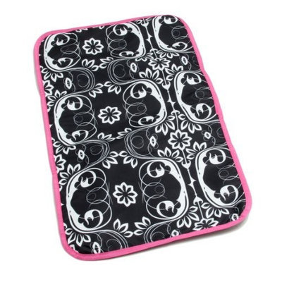 Ju Ju Be Ju-Ju-Be Changing Pad, Fuchsia Blossoms (Discontinued by Manufacturer)