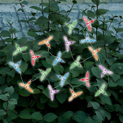 Sti Group Smart GardenMulti Color Hummingbird LED Solar String Lights