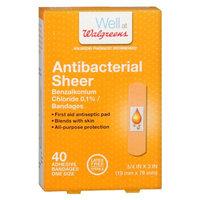 Walgreens Antibacterial Sheer Adhesive Bandages, 40 ea