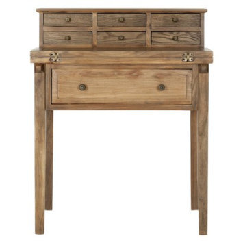 Writing Desk: Safavieh Catalonia Writing Desk - Medium Brown (Oak)