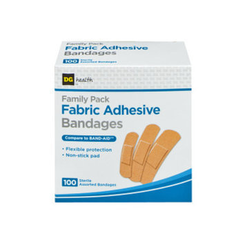 DG Home DG Health Fabric Adhesive Bandages - Family Pack, 100 count