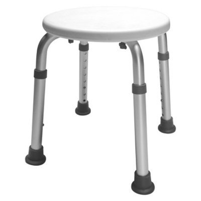 Lumex Bath Stool Anodized Aluminum Round Seat 300# Weight Capacity