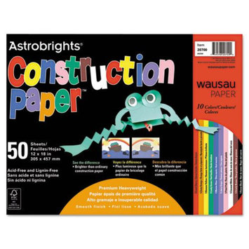 Wausau Papers Construction Paper Astrobrights, 72-lb, 12 x 18