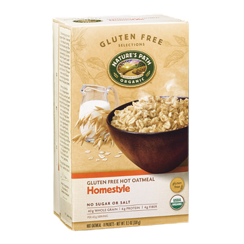 Nature's Path Organic Gluten Free Hot Oatmeal Packets Homestyle - 8 CT