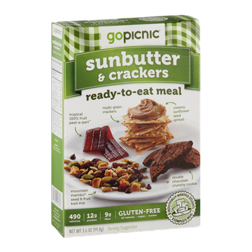 GoPicnic Ready-To-Eat-Meal Sunbutter & Crackers