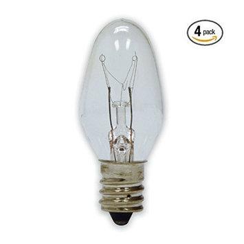 15 Watt Bulb (4-Pack) Replacement for Scentsy Plug-In Warmer, KE-15WLITE
