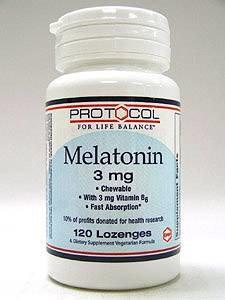 Melatonin 3 mg 120 loz by Protocol For Life Balance