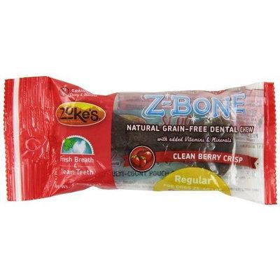 Zuke's Z-Bones Edible Grain-Free Dental Chews, Clean Berry Crisp, Regular 1.5-Ounce, Individually Wrapped Bone