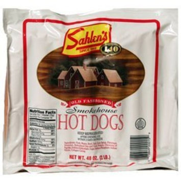Sahlen's Packaging Company Sahlen's Smokehouse Hot Dogs - 3lbs