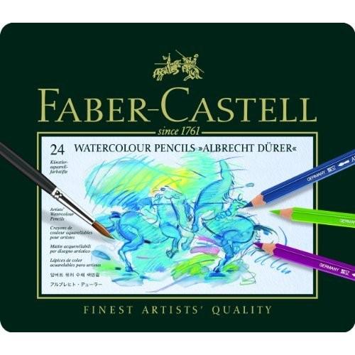 Faber Castell Faber-Castel FC117524 Albrecht Durer Artist Watercolor Pencils In A Tin (24 Pack), Assorted