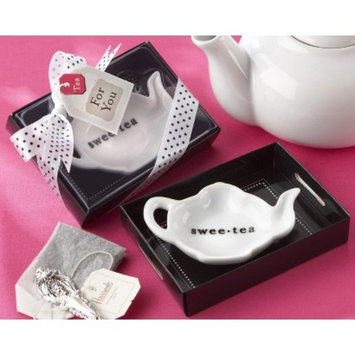 Kate Aspen Swee-Tea Ceramic Tea-Bag Caddy (Set of 12)