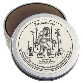 Seattle Sundries Sasquatch Soap - 100% Natural & Handcrafted, in Reusable Travel Gift Tin