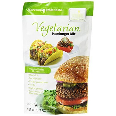 Harmony Valley Vegetarian Hamburger Mix, 5.7-Ounce (Pack of 6)