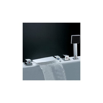 Marlboro Contemporary Waterfall Tub Faucet with Hand Shower (Chrome Finish)