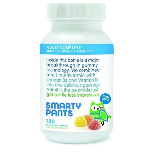 SmartyPants Adult Gummy Multivitamins Plus Omega 3's Plus Vitamin D